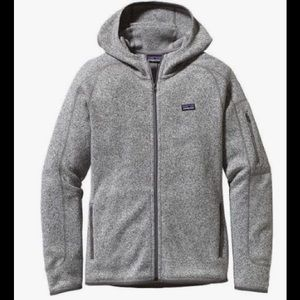 Women's gray hooded zip up Patagonia jacket L